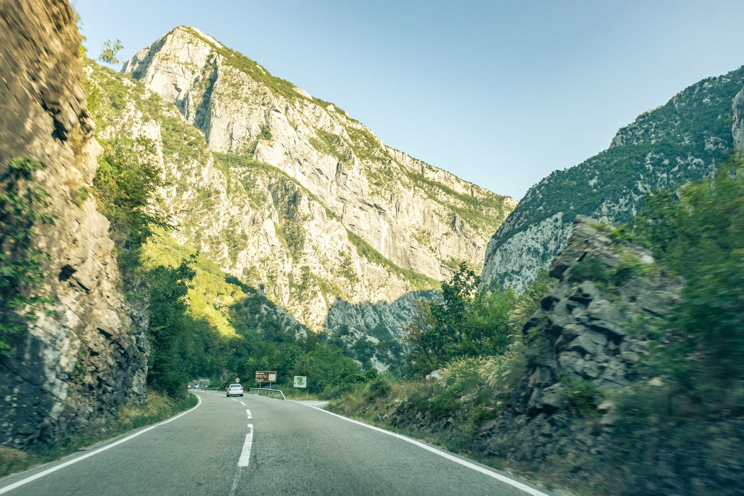 Driving through the Montenegrin side of the Accursed Mountains